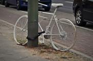 Weisses Fahrrad