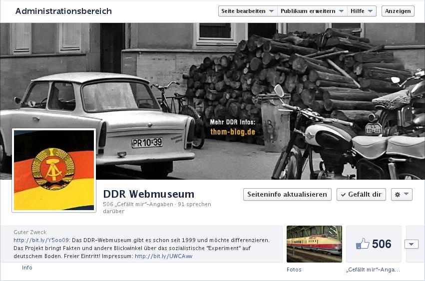 DDR Webmuseum auf Facebook