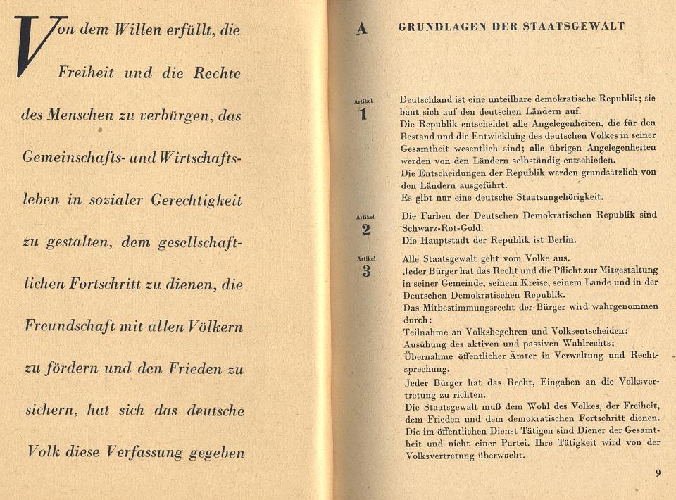 Verfassung der DDR 1949