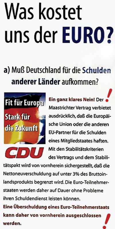 CDU Wahlplakat 1999