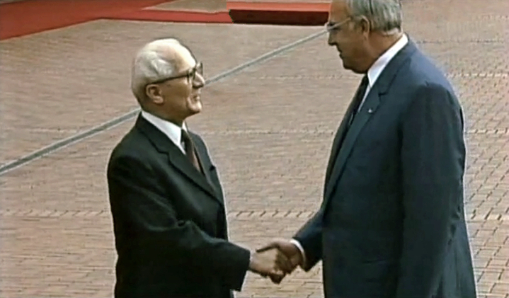 Honecker und Kohl 1987